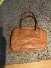 Woman L K Bennett Medium Tan Leather Handbag With Gold Stud Handles