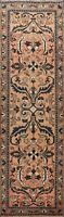 Antique Geometric Lilihan Runner Rug Traditional Hand-knotted Wool Carpet 3'x10'
