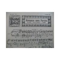 Piano Soleil No 9 G. Nagant E. Lalo G. Lamothe Piano 1898 partition sheet music