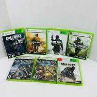 Call Of Duty 2 3 Advance Warfare Ghost MW 2 MW 3 COD 4 Microsoft Xbox 360 LOT X7