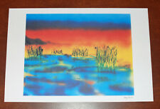 Jerry Garcia Fine Art Print Wetlands I Lithograph Poster #734/1000 Grateful Dead