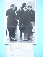 PHOTOGRAPHIE DE PRESSE SEPT.1938 PARIS M. BONNET M. DALADIER A LONDRES