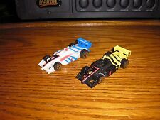 Vintage RARE Lot of 2 Unmaked Transformers 1/64 ? IRL Indy Grand Prix F1 Racers