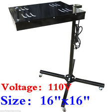 "110V 16""x16"" Flash Dryer Screen Printing Equipment Adjustable Stand T-Shirt Cure"
