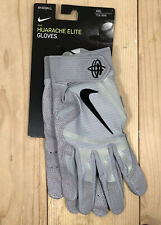 New Nike Huarache Elite Batting Gloves Size XXL Retail $65 Grey Black