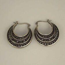 Retro Tibet Silver Tone Earrings Lock Dangle Women's  Charm Costume Jewelry Gift
