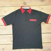 Vintage Gabicci Mens Polo Shirt Top Size Medium Black