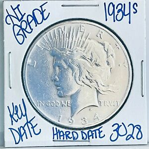 1934 S SILVER PEACE DOLLAR COIN #3028 FREE SHIPPING RARE KEY DATE HIGH GRADE