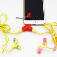 3.5mm Stereo Audio Headset Headphone Cable Plug Jack Splitter Connector Adapter