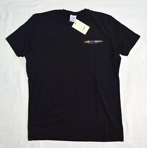 Authentic Vetements Mens T Shirt Black Size L Model FY18-3182 New