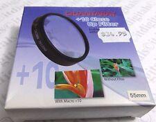 55mm MACRO + 10 objetivo FILTRO no.10 para DSLR SLR Película Cámara Digital