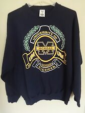 True Vintage 1980's Premium Ncaa Michigan Wolverines Sweatshirt Men Xl 50/50 Usa