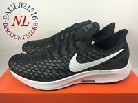 NIKE AIR ZOOM PEGASUS 35 RUNNING SNEAKERS MEN'S BLACK 942851-001 ~ All Sizes !