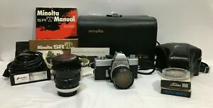 Minolta SRT 101 Camera Lot -  Lenses, Cases, Filters, Etc.