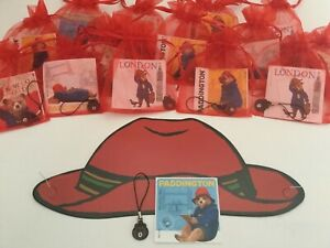Paddington Bear Party Bag, Filler, Present, Gift, Hat, Sticker & Charm
