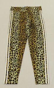 adidas Women's Originals Leopard Lux Leggings SV3 Brown Large NWT