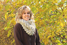 Knit Cowl, Claire's Chunky Cowl in Oatmeal-Hand Knit Scarf