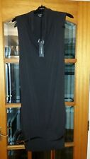 BNWT MISS SIXTY COLLECTION BROWN VISCOSE BELT SLEEVELESS KNEE LENGTH DRESS SZ L