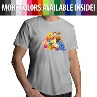 Disney Winnie the Pooh Tigger Piglet Friends Family Mens Tee Unisex T-Shirt