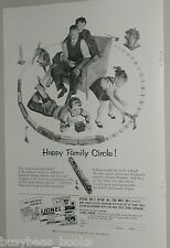 1953 LIONEL Train advertisement, Lionel Lines, Santa Fe O Scale set