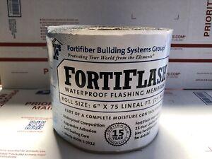 "(2)FortiFiber Systems FortiFlash Waterproof Flashing Membrane 6 ""x 75 FT 25 Mill"