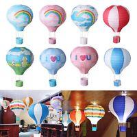 "12"" Multicolor Hot Air Balloon Paper Lantern Birthday Party Wedding Decoration"