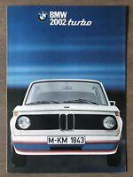 1975 BMW 2002 turbo original British sales brochure