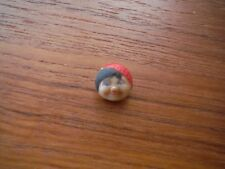 Vintage / Antique little girl face with red hat button