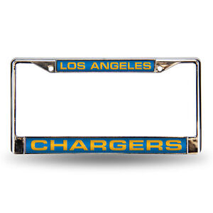 Los Angeles Chargers Chrome Metal Laser Cut License Plate Frame