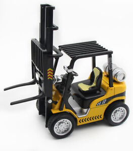 1/24 Forklift Truck Construction Vehicle Model Car Diecast Toy Pull Back Sound