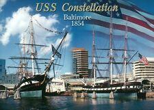 USS Constellation Baltimore Maryland, Civil War Ship US Navy Military - Postcard