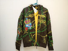 NWT Ed Hardy Christian Audigier Leather Jacket  M