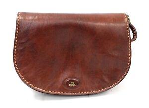 Ladies THE BRIDGE Vintage Brown Genuine Leather Small Satchel Handbag - H61