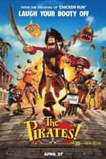 PIRATES! BAND OF MISFITS MOVIE POSTER 27x40, ORIGINAL, 2-SIDED