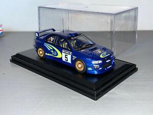RALLY 1/43 TROFEU SUBARU IMPREZA WRC RICHARD BURNS NETWORK Q 1999 LOMBARD RAC