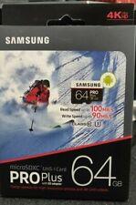 NEW Genuine Samsung MicroSDXC UHS-I Pro Plus 64GB With SD Adapter 90-100 MB/s