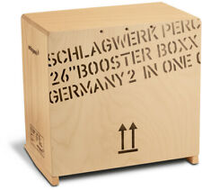 Schlagwerk 2inone German Made Bass Cajon Snare Drum Percussion Booster Boxx