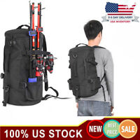 Large Capacity Fishing Backpack Tackle &Rod Storage Shoulder Bag Outdoor Camping