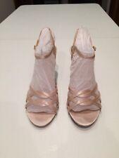 NWOB Women's Gold Jacqueline Ferrar High Heel Dress Sandals Size 7M