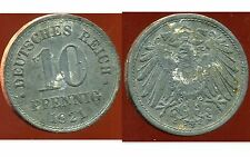 ALLEMAGNE GERMANY 10 pfennig 1921   ( it )