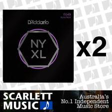 2x D'Addario NYXL1149 Electric Guitar Strings Daddario Medium, 11-49 *2 PACKS*