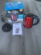 Mr. Coffee Stainless Steel Electric Kettle Maroon Black 1.7 L