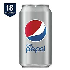 18-PACK Diet Pepsi Soft Drink Cola, ZERO Calories, 12 oz Cans