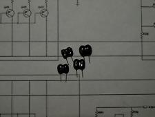 4 pcs Cornell Dubilier Silver Mica Capacitors, 47pF 300V ±5%