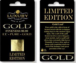 24ct Gold Leaf on base 100% Genuine 10 sheets