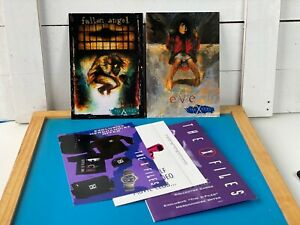 THE X-FILES OVERSIZED PROMO CARDS FALLEN ANGEL & EVE 1995 Original Packaging