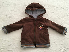 Sergent Major cardigan with hood - Brown - 6 months