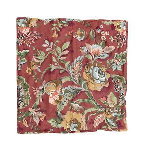 Pottery Barn Euro Pillow Sham Vanessa Red 26x26 Bedding Bedroom Linen Blend