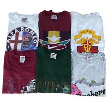Graphic T Shirt Lot of 6 Vintage 90s Mens L Tees Oneita Nike 50/50 Single Stitch