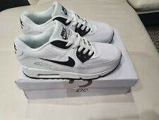 NIKE MENS AIR MAX 90 SIZE UK 7 WHITE RUNNING SHOES